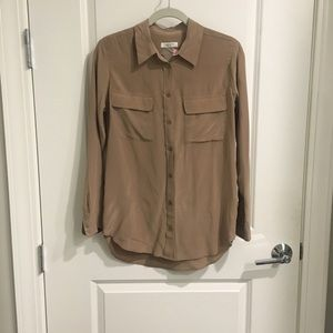 Equipment Beige Blouse Size S